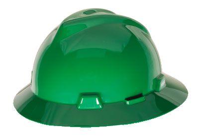 MSA V-GARD® FULL BRIM HARD HAT – GREEN
