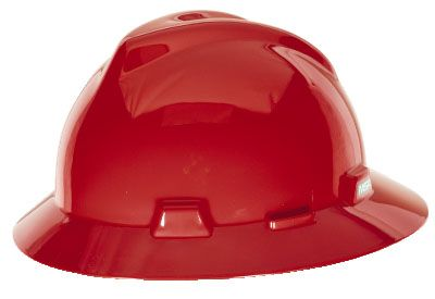 MSA V-GARD® FULL BRIM HARD HAT – RED