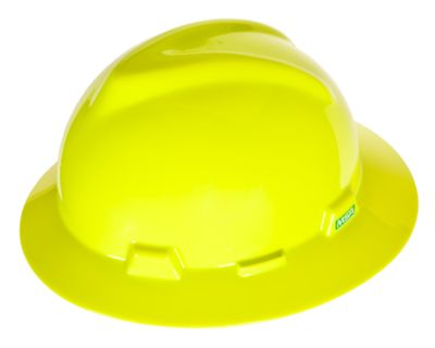 MSA V-GARD® FULL BRIM HARD HAT – YELLOW