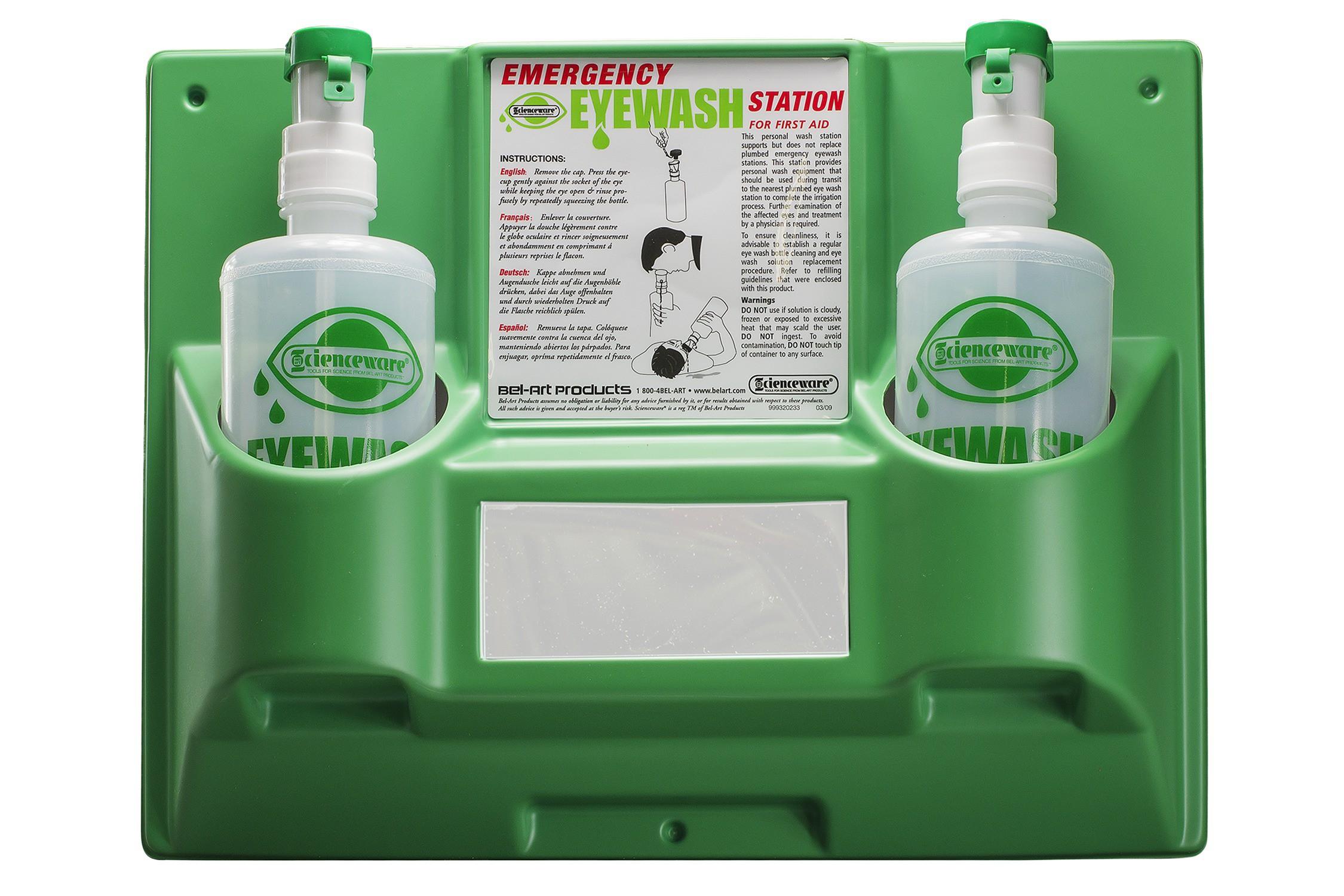 BEL-ART EMERGENCY EYE WASH SAFETY STATIONS 2 BOTTLE