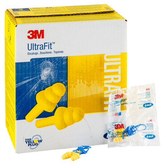 3M™ E-A-R™ ULTRAFIT™ EARPLUGS 340-4004, CORDED, POLY BAG