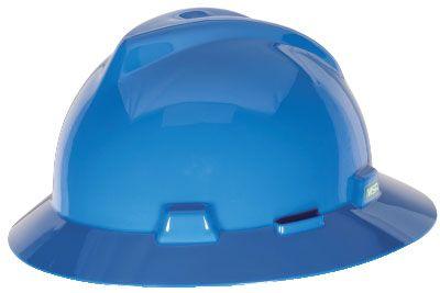 MSA V-GARD® FULL BRIM HARD HAT – BLUE