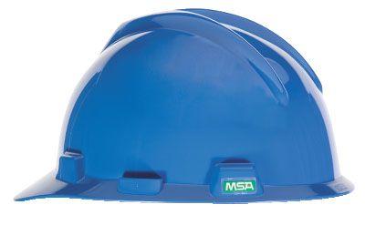 MSA V-GARD® HALF BRIM HARD HAT – BLUE