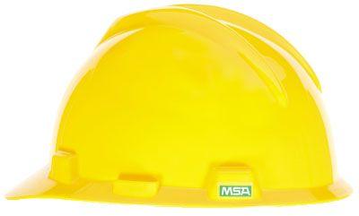 MSA V-GARD® HALF BRIM HARD HAT – YELLOW