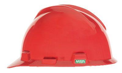 MSA V-GARD® HALF BRIM HARD HAT – RED