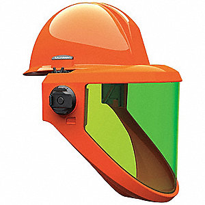 SALISBURY AS1200HAT-SPL ARC FLASH PROTECTION FACE SHIELD WITH HARD HAT (12 cal/cm2