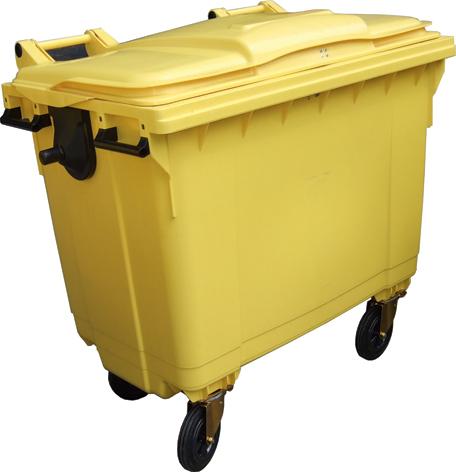 Wheeled Bin 1100 liter Yellow FL-143-1100-Y