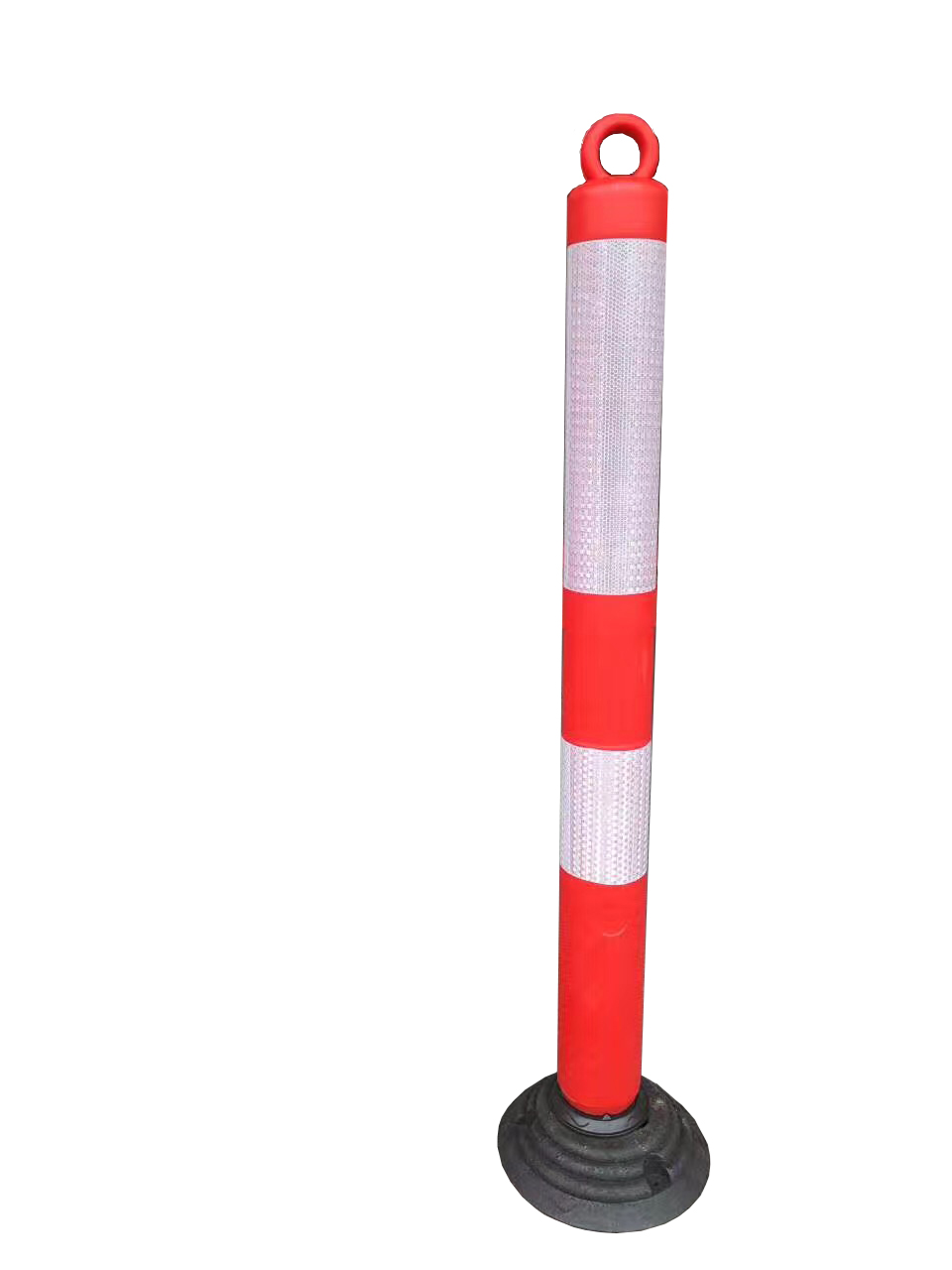 TRAFFIC FLEXIBLE SPRING POST BOLLARD WITH CHAIN LOOP