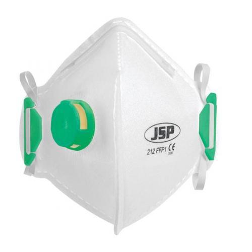 JSP FFP1 FOLD FLAT DISPOSABLE VERTICAL VALVED FACE MASK BEB110-101-000