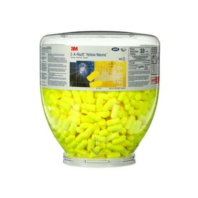 3M™ E-A-RSOFT™ YELLOW NEONS™ ONE TOUCH™ REFILL EARPLUGS 391-1004, UNCORDED, REGULAR