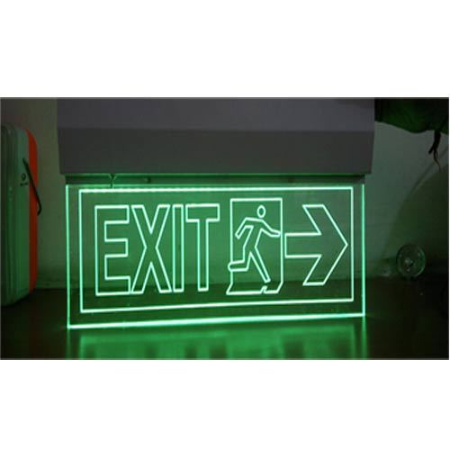 LED EXIT LIGHT LED EMERGENCY EXIT LIGHT HANGING CLEAR PMMA BOARDS WITH GREEN LED