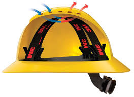 3M HARD HAT HEAD PROTECTION H802R YELLOW FULL BRIM