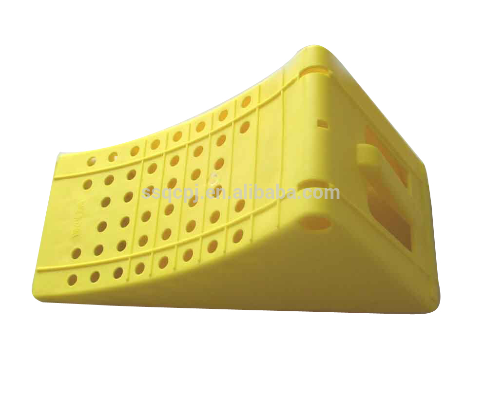 PLASTIC TIRE STOPPER YELLOW