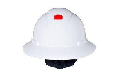 3M HARD HAT HEAD PROTECTION H801R WHITE FULL BRIM