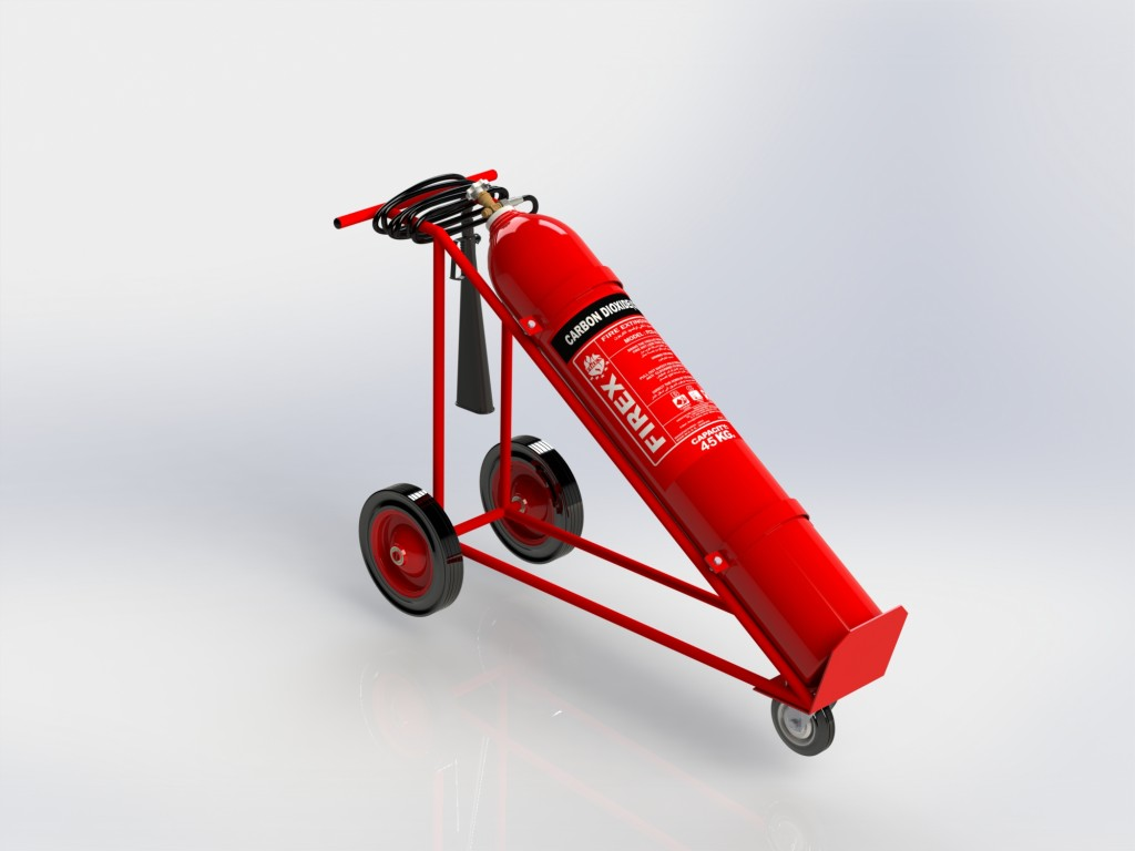 CO2 FIRE EXTINGUISHER 10 TO 60 KG TROLLY – FIREX