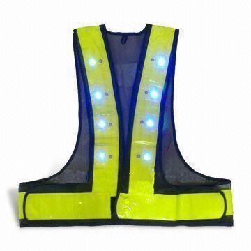 ILLUMINATED LED FLASHING SAFETY VEST