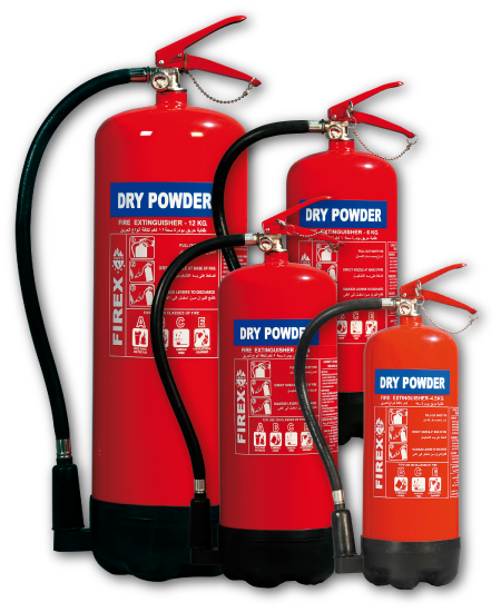 DRY POWDER FIRE EXTINGUISHER 1 TO 12 KG – FIREX
