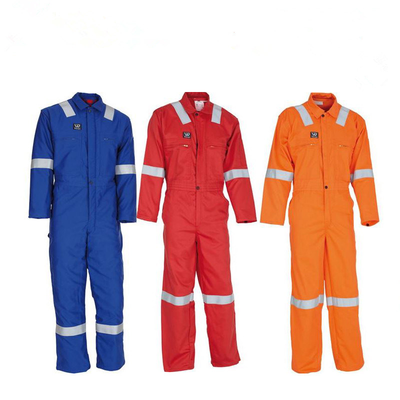 FIRE RETARDANT COVERALL, 100% COTTON WITH REFLECTOR