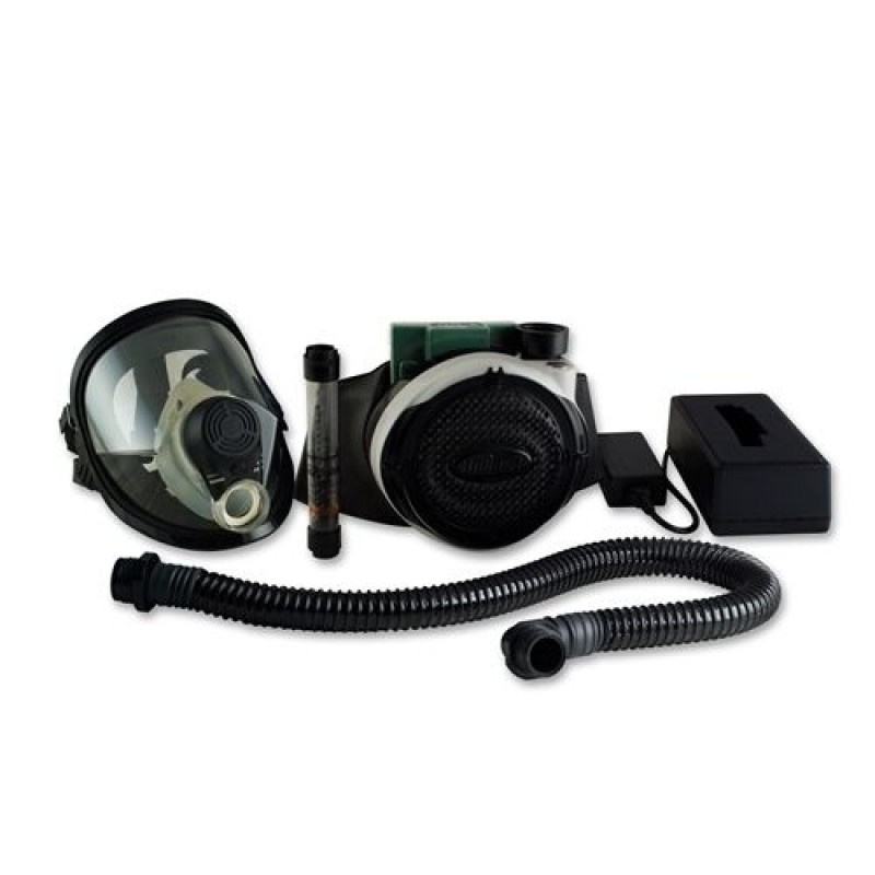 BULLARD EVASPECL PAPR SYSTEM, EVA BLOWER, MASK BATTERY, CHARGER, BREATHIG TUBE, FULL FACE RESPIRATOR