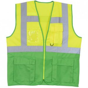 REFLECTIVE FABRIC VEST WITH 5 POCKETS