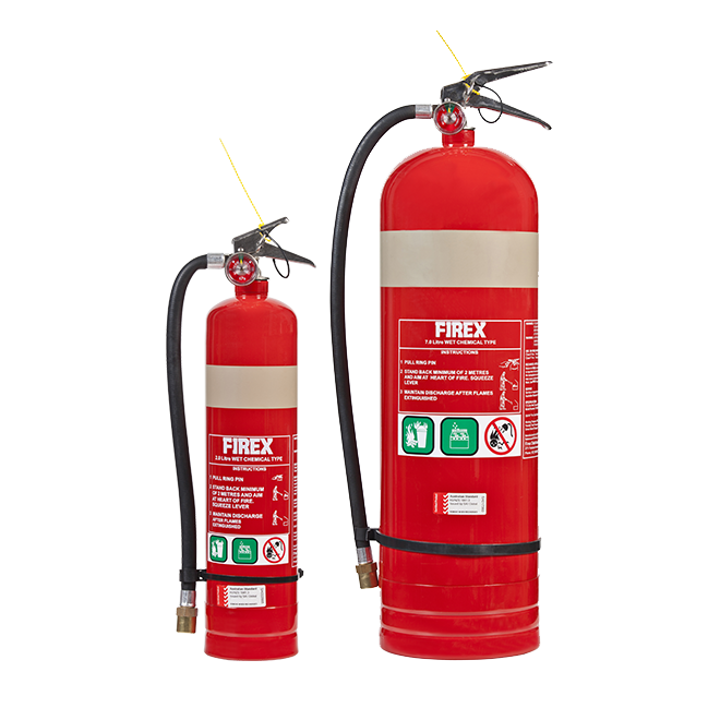 WET CHEMICAL FIRE EXTINGUISHER 1 TO 12 KG AND 20 TO 150 KG MOBILE – FIREX