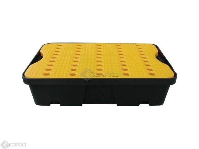 20 LITER CAPACITY POLY SPILL TRAY WITH PLATFORM GRID FL-205-516