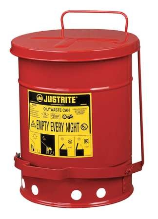 JUSTRITE CAN, OILY WASTE, 6 G – 9100