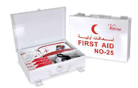 FIRST AID KIT 25 PERSON METAL BOX