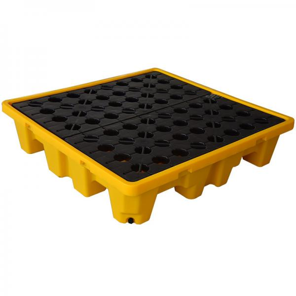 4 DRUM SPILL PALLET WITH DRAIN