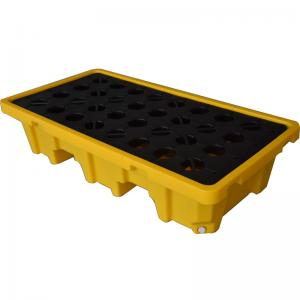 2 DRUM SPIILL PALLET WITH DRAIN