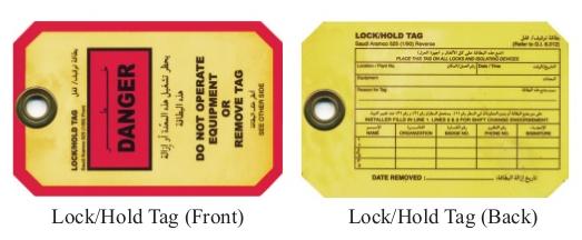 LOCK/HOLD TAG – SAUDI ARAMCO 525